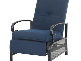 PHI VIllA Adjustable Patio Metal Relaxing Recliner lounge Chair  279 99