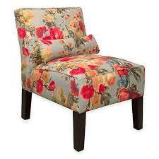 Skyline Furniture Armless Chair in Garden Odyssey Fog  541 78