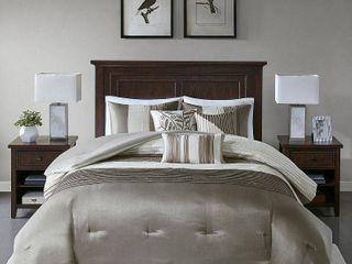 Salem 7 Piece Comforter Set   Natural  California King   149 99