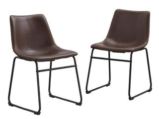 Worthington Faux leather Dining Chairs by River Street Designs  169 92