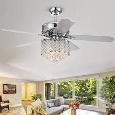 Deidor 5 Blade 52 in  Indoor Chrome Remote Controlled Ceiling Fan with light KIt  292 48