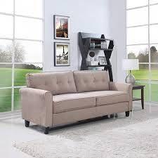 Divano Roma Furniture Classic Ultra Comfortable Brush Microfiber Fabric living Room love Seat  Hazelnut  RetIl  229 99