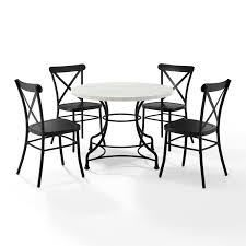 Crosley Furniture Madeleine 40  Round Dining Table  Steel with Faux Marble Top  419 99