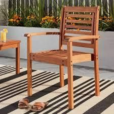 Single Tottenville Eucalyptus Wood Stackable Chair by Havenside Home Retail  134 49