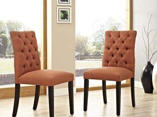 Orange Copper Grove Trilj Dining Chair  Set of 2  Retail  224 49