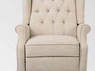 Walter Contemporary Tufted Fabric Recliner  1  by Christopher Knight Home  Retail 364 99