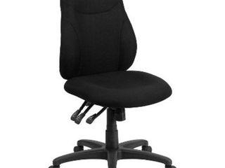 Mid Back Black Fabric Multi Functional Ergonomic Swivel Task Chair   Flash Furniture  199 49