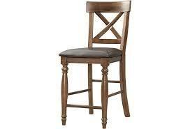 Kingston Raisin Curved Slat Back Barstools  Set of 2   244 99