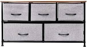 KINWEll Extra Wide Fabric Storage Organizer Cabinet 5 Drawer  72 99