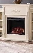 Brick Accent Firebox Gracewood Hollow Forbes 70 inch Ivory Electric Fireplace Retail  748 99