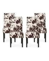 Milk cow   Espresso Pertica Contemporary Velvet Dining Chairs  Set of 4  by Christopher Knight Home Retail  356 49