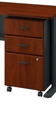 Series A left Corner Desk with Mobile File Cabinet in Cherry  Retail 598 49