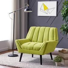 Houston Apple Green Plush low Pile Velour Mid Century Modern Arm Chair  362 94