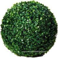 Green Floral Sphere Decor