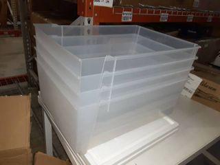 Storage Bin w  Drawers   Set of 4