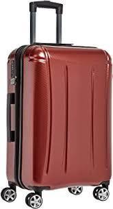 AmazonBasics Hardshell Rolling Carry On Red