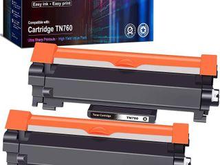 EZink Black Toner Cartridges   2 Pack