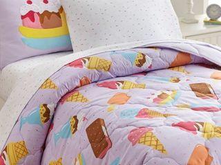 Full Ice Cream Microfiber Bedding   Full
