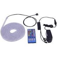 Utilitech led Tape light Plug N lb Plastic Integrated 16 4ft W  Remote