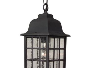 Craftmade Hanging lantern with Seeded Glass Shades  Black Finish