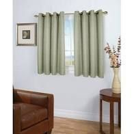 Porch   Den Peete Grasscloth Grommet Short Panel with Pull Wand