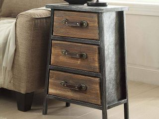 4D Concepts 148017 Urban Collection 3 Drawer Chest  Black   Grey