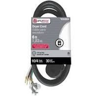 Utilitech 6 ft   4 Prong Dryer Cord