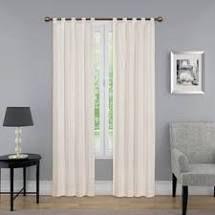 Porch   Den Cloverleaf Curtain Panel Pair  Color   Natural