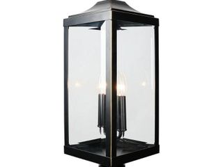 Rockies Containers 23 4 in  2 light Imperial Black Outdoor Post lantern  Retail 133 49