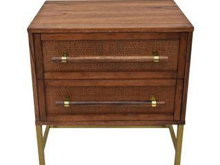 Brown branch  222 Fifth Sophia Acacia Wood Nightstand  Retail 239 99