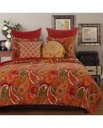 California King King   Cal King  Greenland Home Fashions Tivoli Cotton Quilt Set  Cinnamon  Retail 101 49