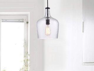 The lighting Store Belinda Antique Black Mouth blown Clear Glass Pendant Chandelier  Retail 78 98