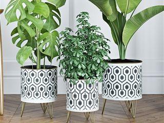 Andrey Modern Planters  Set of 3  Metal