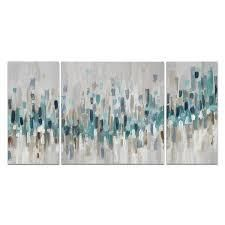 Blue Staccato  Canvas Wall Art  Retail 169 99