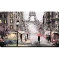 Paris streets II framed print on canvas