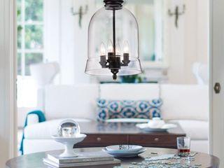 Yamila Black Clear Glass lantern Pendant Chandelier   N A  Retail 141 99