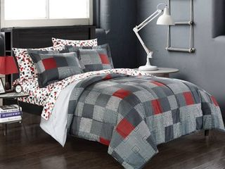 American Original Geo Blocks Bed in a Bag Bedding Comforter Set  Twin