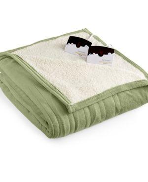 Biddeford Microplush Reverse Sherpa Heated Twin Blanket Bedding