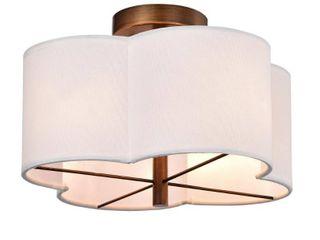 Null  Polst Antique Copper 4 light Clover Semi Flush Ceiling lamp  Retail 108 99