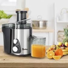 ZOKOP 600W Juicer Machines with 3  Wide Mouth  Dual Speed Centrifugal Juicer Stainless Steel Easy to Clean