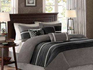 Home Essence Dakota 7 Piece Microsuede Comforter Set