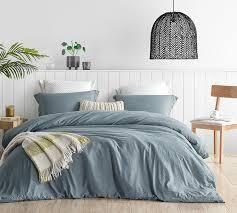 B cozy natural loft ultimate comforter oversized king Smokehouse blue