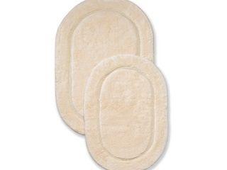 Impressions Sherman Oval Non Slip Cotton 2 Piece Bath Rug Set