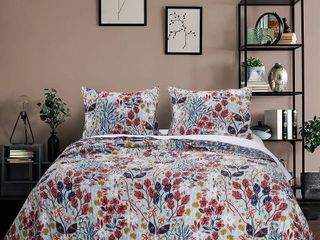Greenland Home Fashions Perry Quilt Set  3 Piece Full Queen
