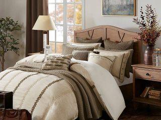 Madison Park Signature Chateau linen Jacquard Comforter Set  Retail 425 99