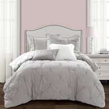 lush Decor Ravello pintuck Caroline Geo 5 pc comforter set twin Xl