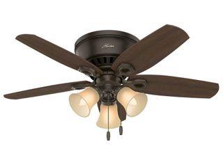 Hunter Fan 42 Builder low Profile lighted Ceiling Fan Bronze