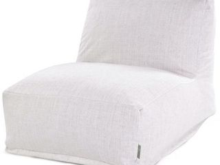 Magnolia  Majestic Home Goods Indoor Wales Poly linen Bean Bag Chair lounger 36 in l x 27 in W x 24 in H  Retail 157 49
