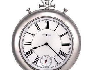 Chrome  Howard Miller Hobson Chrome Finish Wall Clock  Retail 239 00