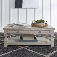 harvest home cotton field white cocktail table